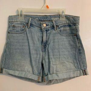 GAP flower patch jean shorts